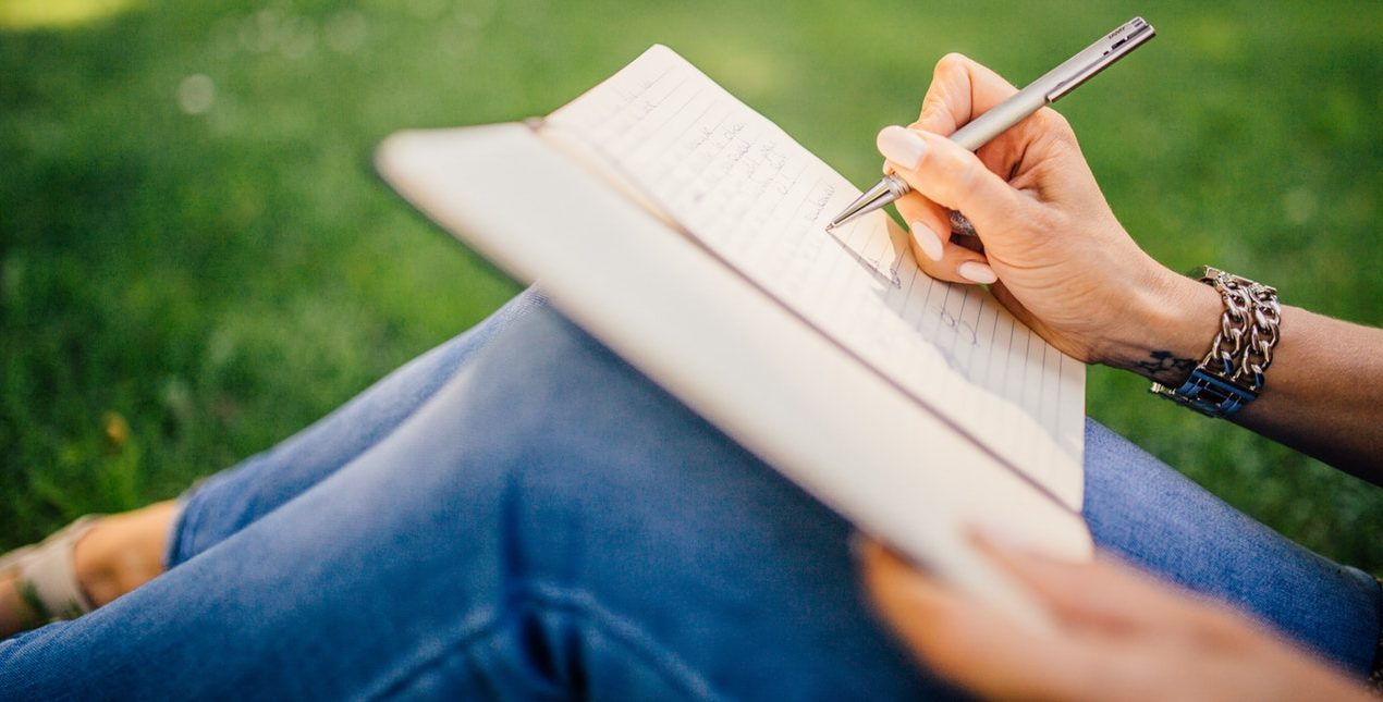 Writing in a Journal can help you relax and de-stress